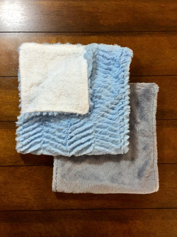 BLUE & GREY BURP CLOTHS