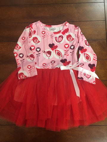 LOVE BIRDS TUTU DRESS