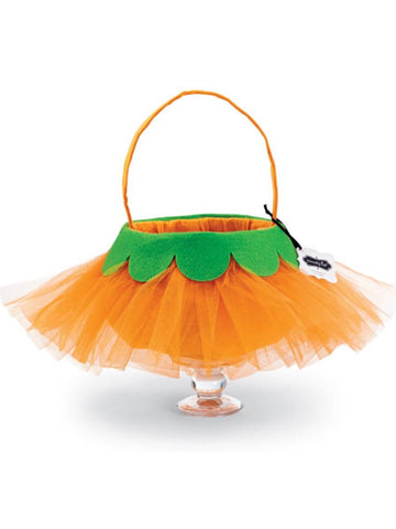 TULLE PUMPKIN CANDY BAG