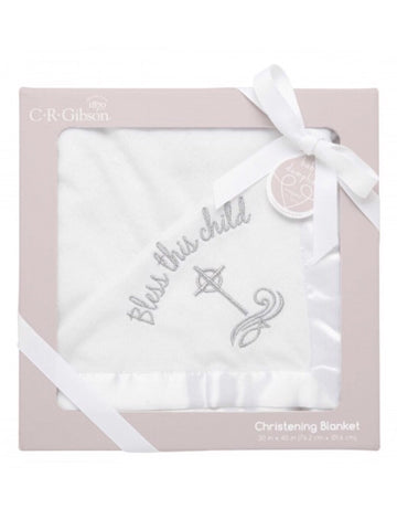 BLESS THIS CHILD CHRISTENING BLANKET