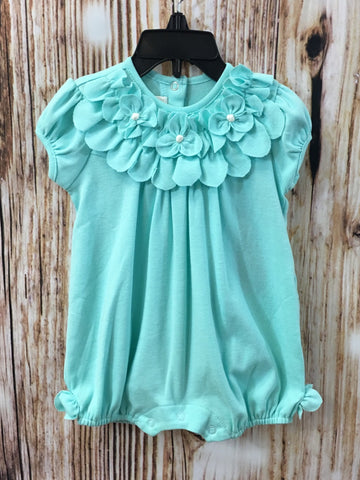 TIFFANY BLUE ALENA ROMPER & HAIR ACCESSORY