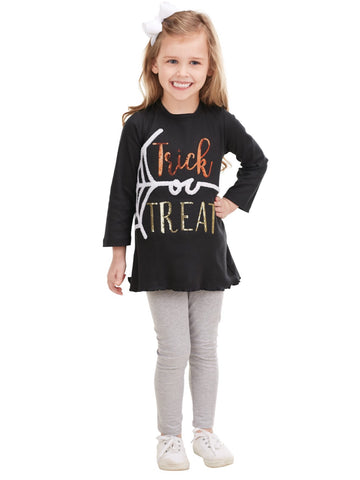 BLACK TRICK OR TREAT TUNIC