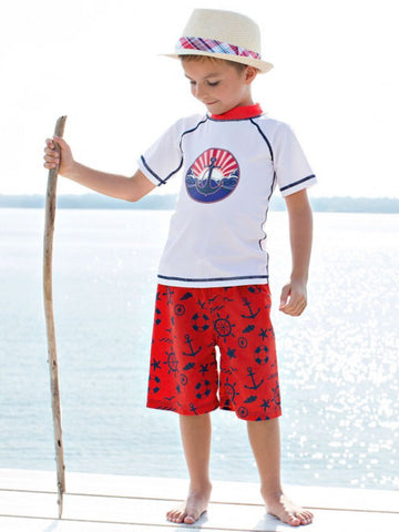 NAUTICAL ANCHOR RASH GUARD