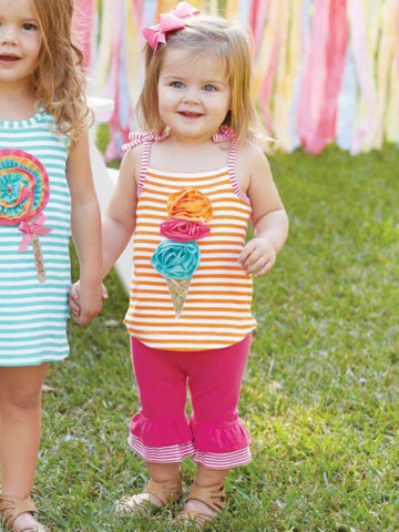 ICE CREAM TANK CAPRI SET