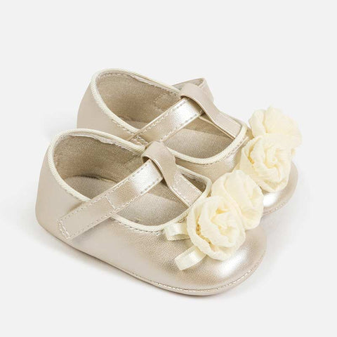 Mary Jane Ceremony Shoes with Flower