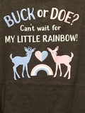 BUCK OR DOE PREGNANCY T-SHIRT