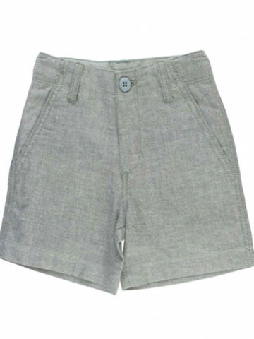 GRAY CHAMBRAY SHORT