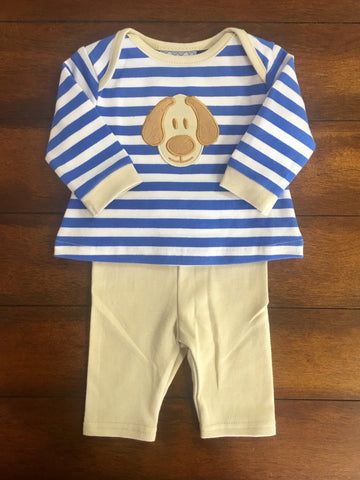PUPPY APPLIQUE BOYS KNIT 2PC SET