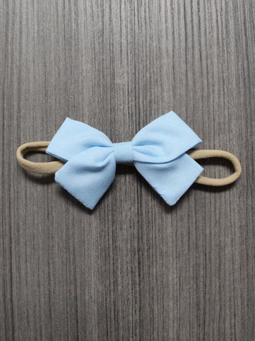 THIN BLUE BOW SINGLE HEADBAND
