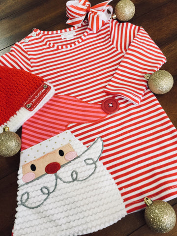 SANTA DRESS RED AND WHITE STRIPE