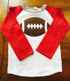 BURGANDY GRAY FOOTBALL TEE