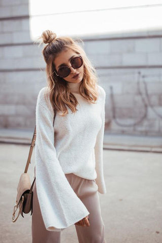 ivory bell sleeve sweater