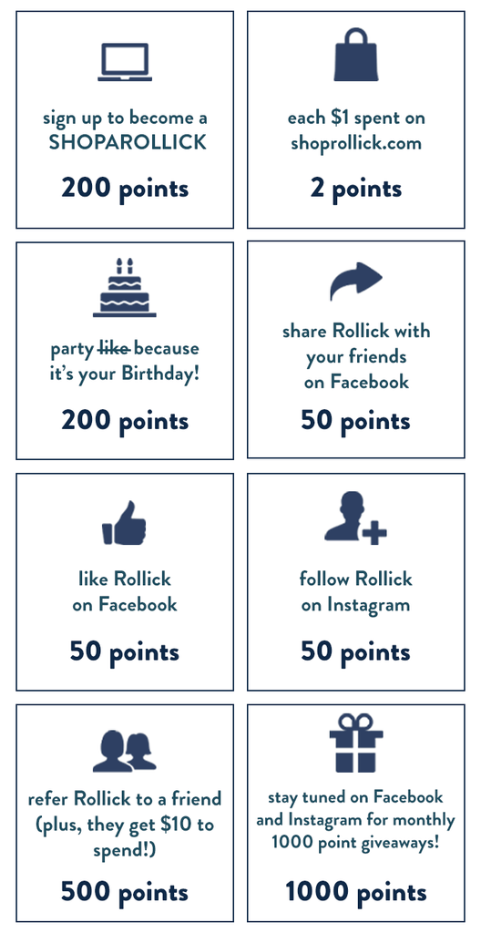 how to get rollick rewards points