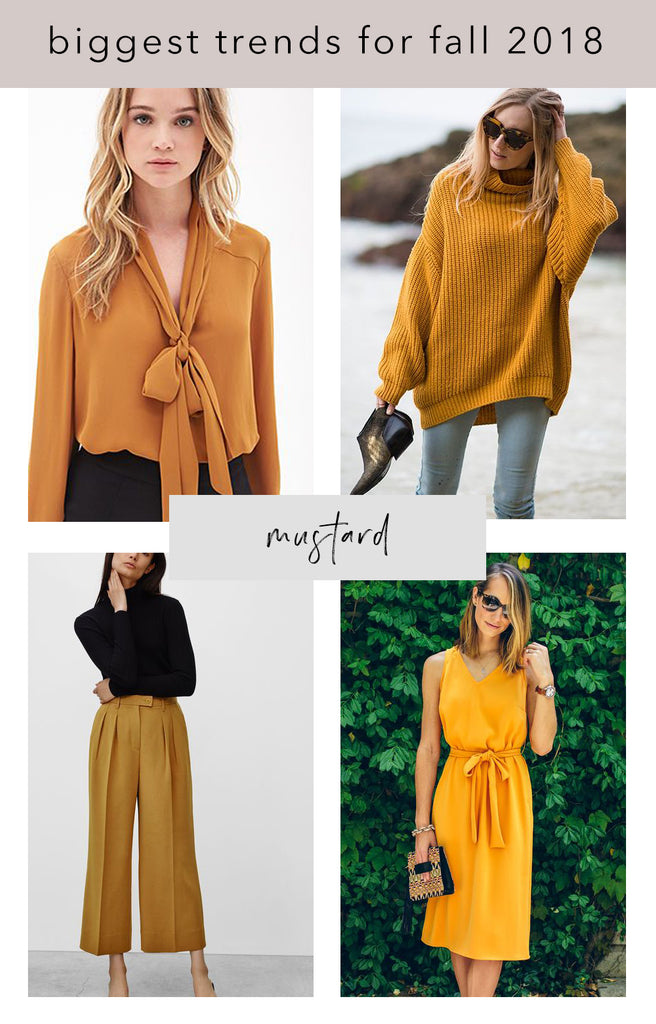 mustard colored styles