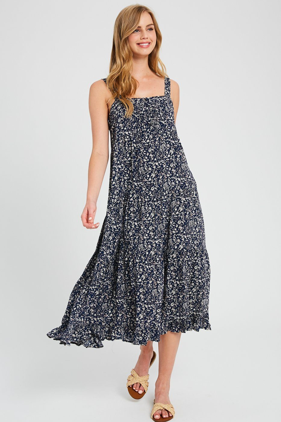Shoot the Breeze Floral Dress