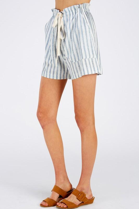 Just Beachin' Tie Waist Shorts