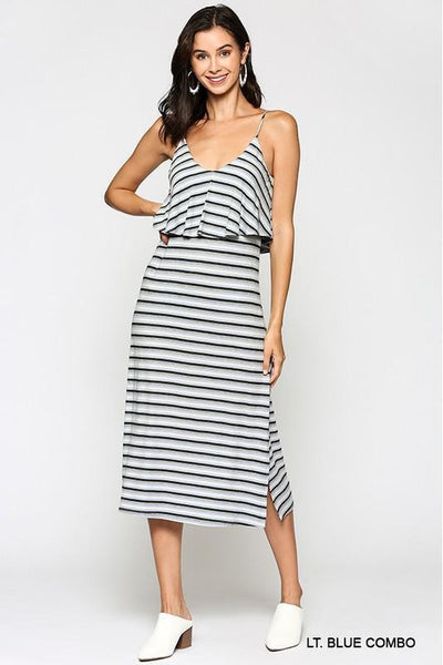 Easy Does It Striped Midi Dress