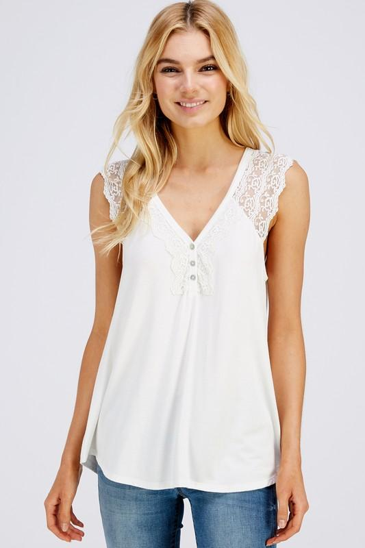 Strap it Up Lace Tank