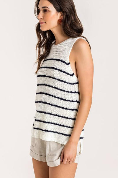 It's No Sweat Striped Sweater Tank