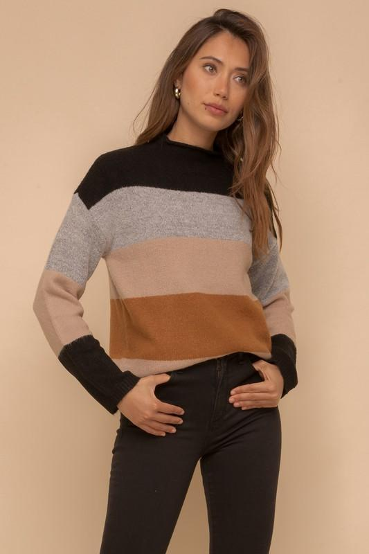 Pop, Color-block and Drop It Sweater