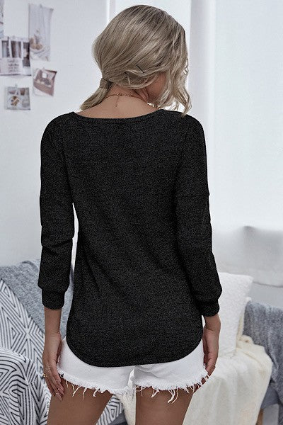 Double Crossed Wrap Front Sweater