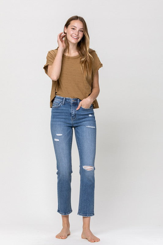 Straight Laced Stretch Ankle Jeans