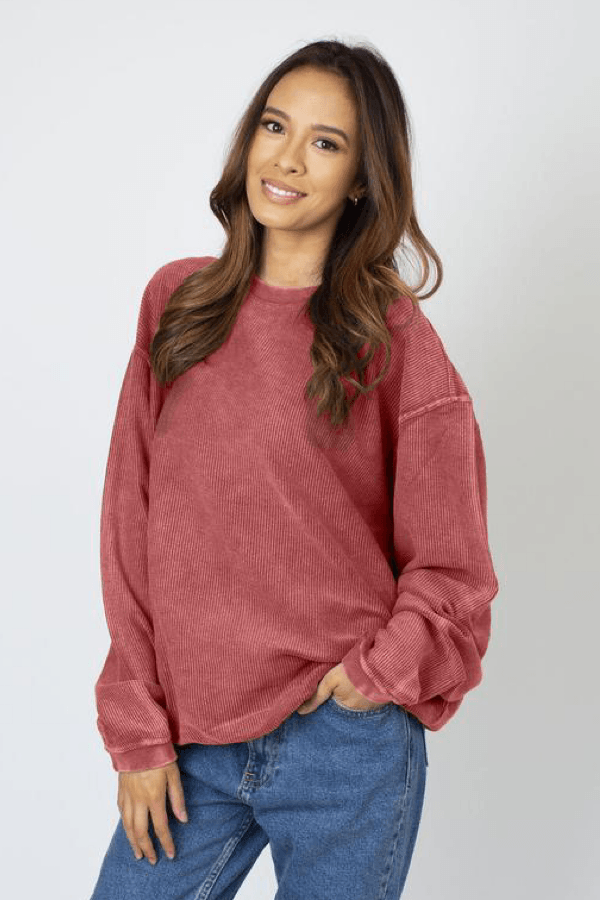 PREORDER Cougs Corded Crew Sweatshirt