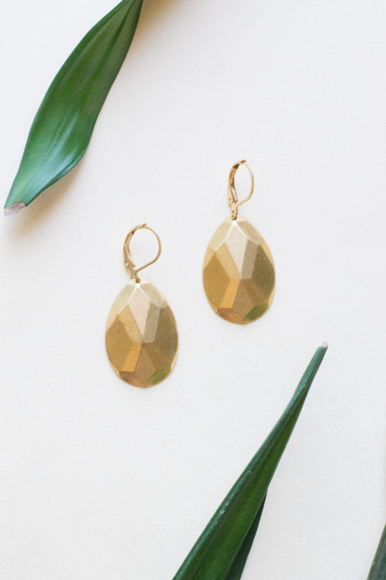 Teardrops of Jupiter Brass Earrings
