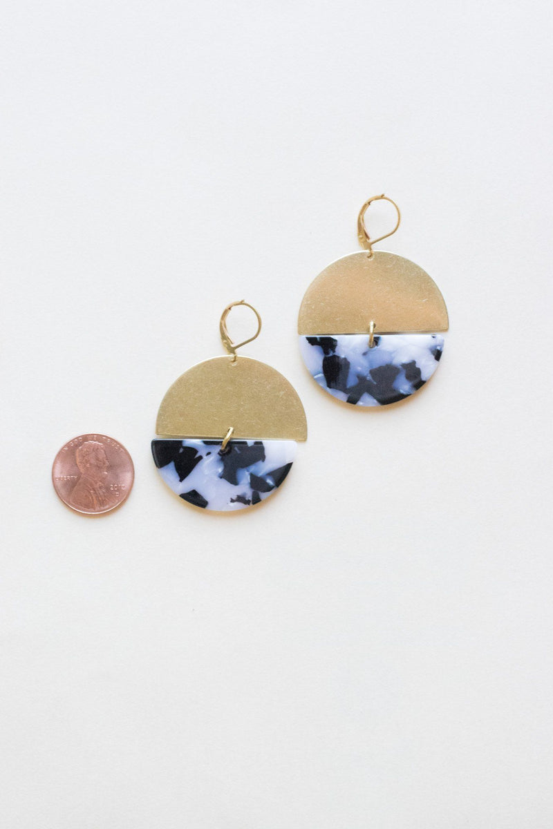 Better Half Acrylic Brass Earrings