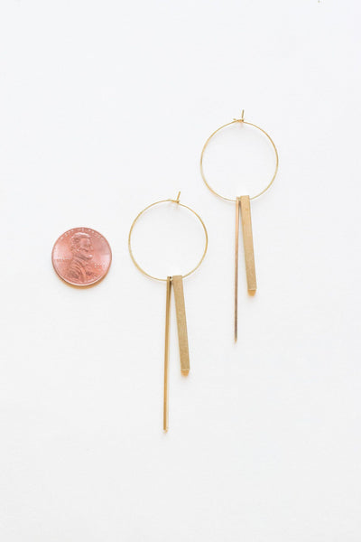 Hoop, There It Is Brass Earrings