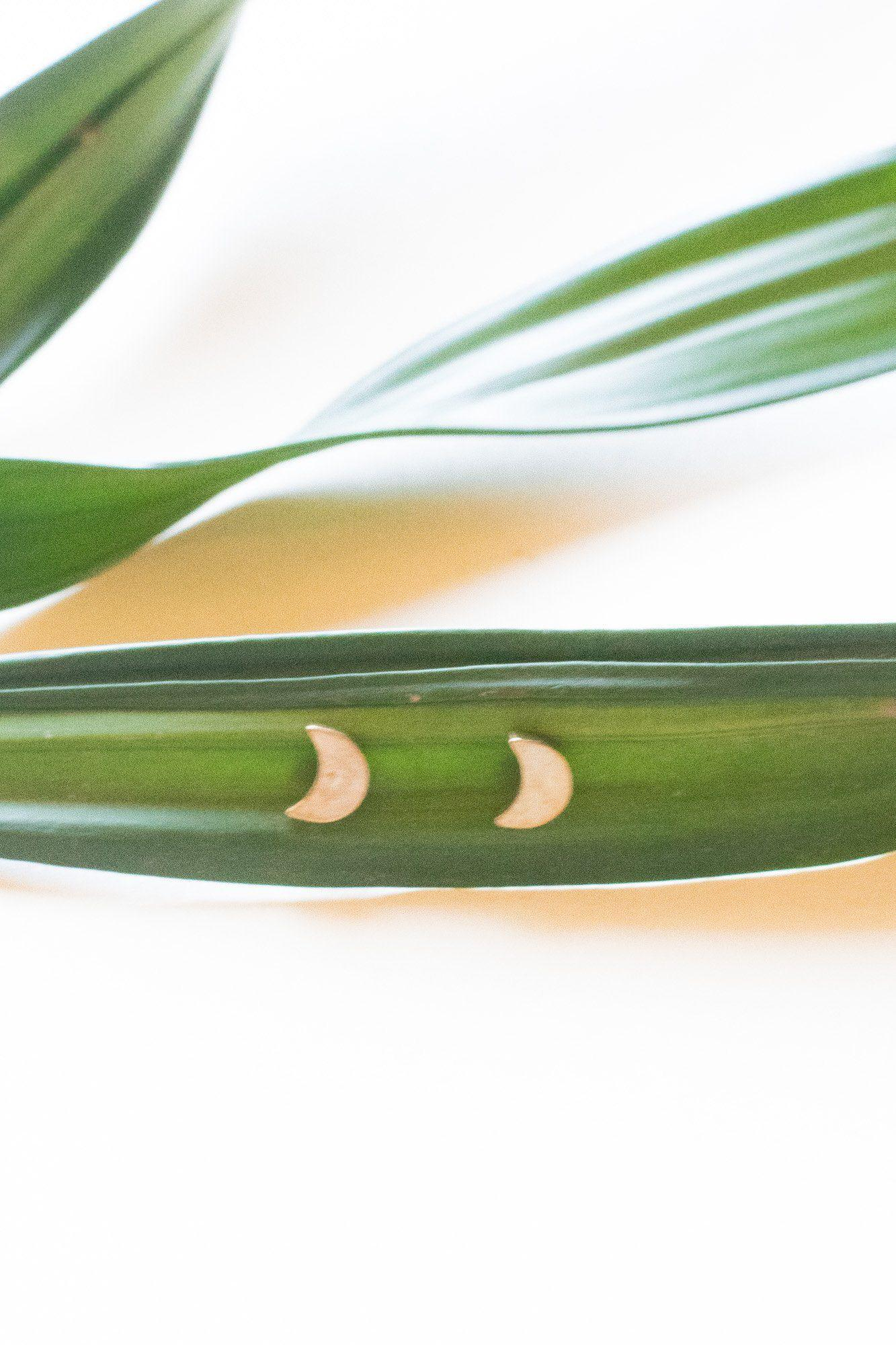 Moon Shine Brass Studs