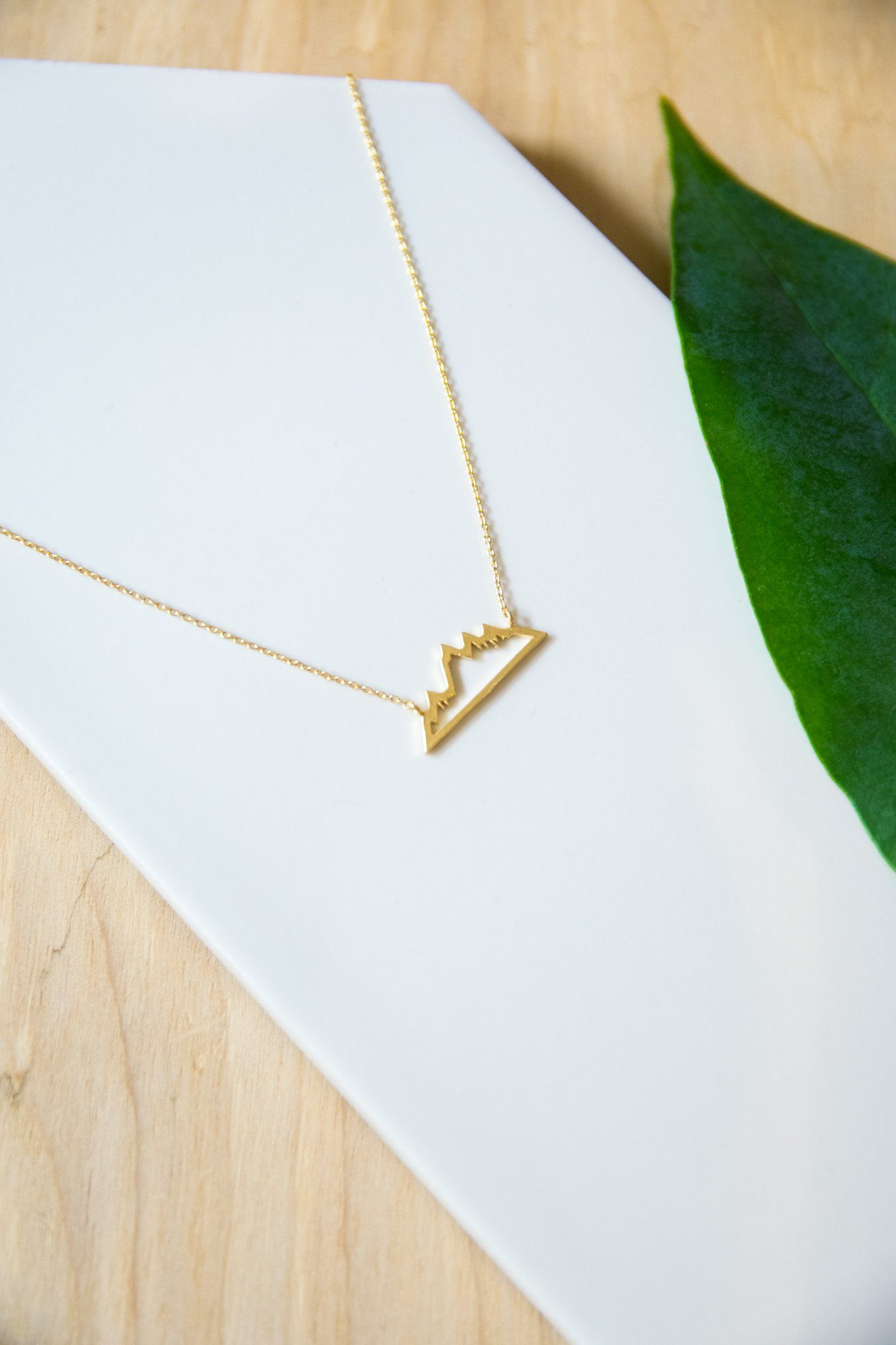 Peak Performance Gold Necklace