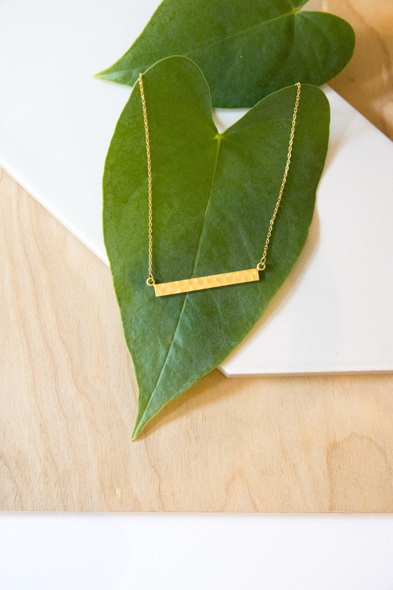 Hammered Time Gold Necklace