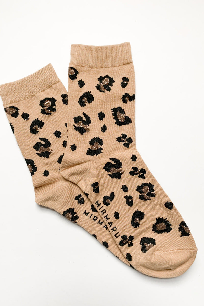 The Cat's Meow Leopard Socks