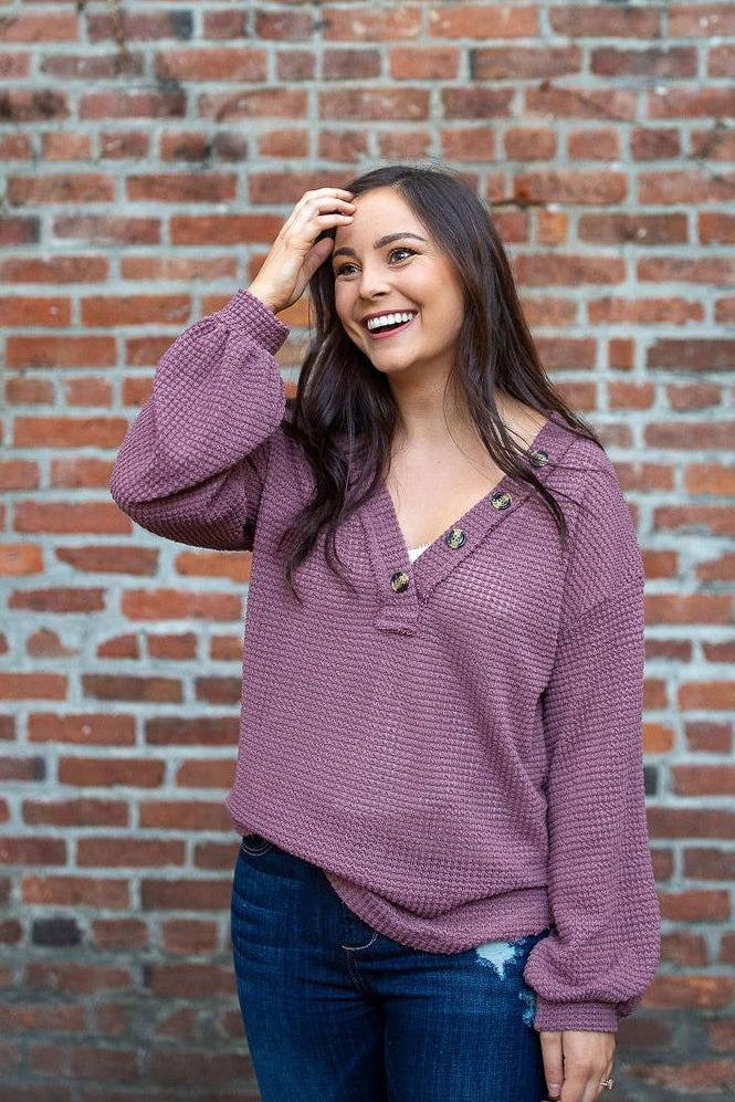 The Berry on Top Waffle Knit Tee
