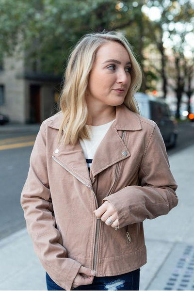 Hello Moto Vegan Leather Jacket