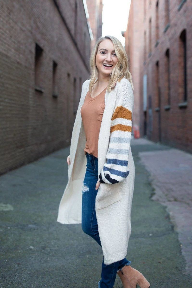Cardi Party Chunky Striped Cardigan