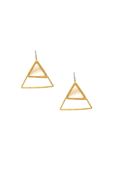 The Tri-Fecta Gold Stud Earrings