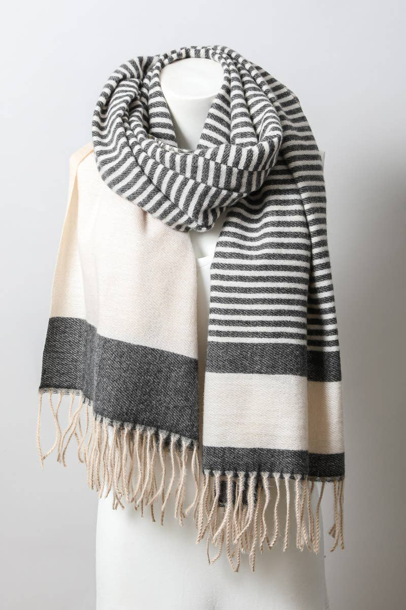 Grey's Accessory Striped Scarf