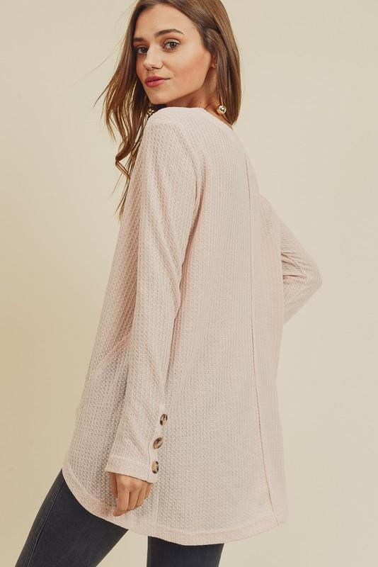 Cute as a Button Thermal Top