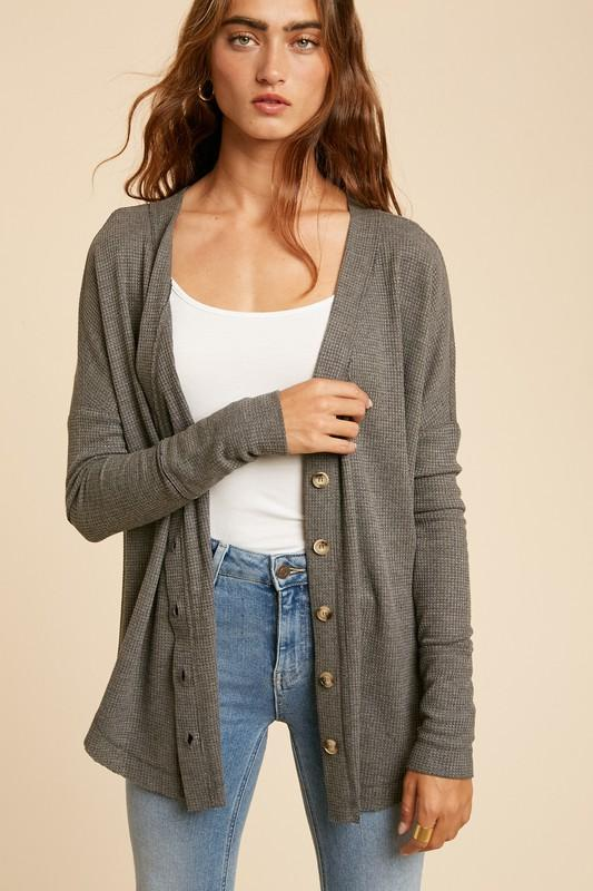 Play Your Cardi Right Button Cardigan