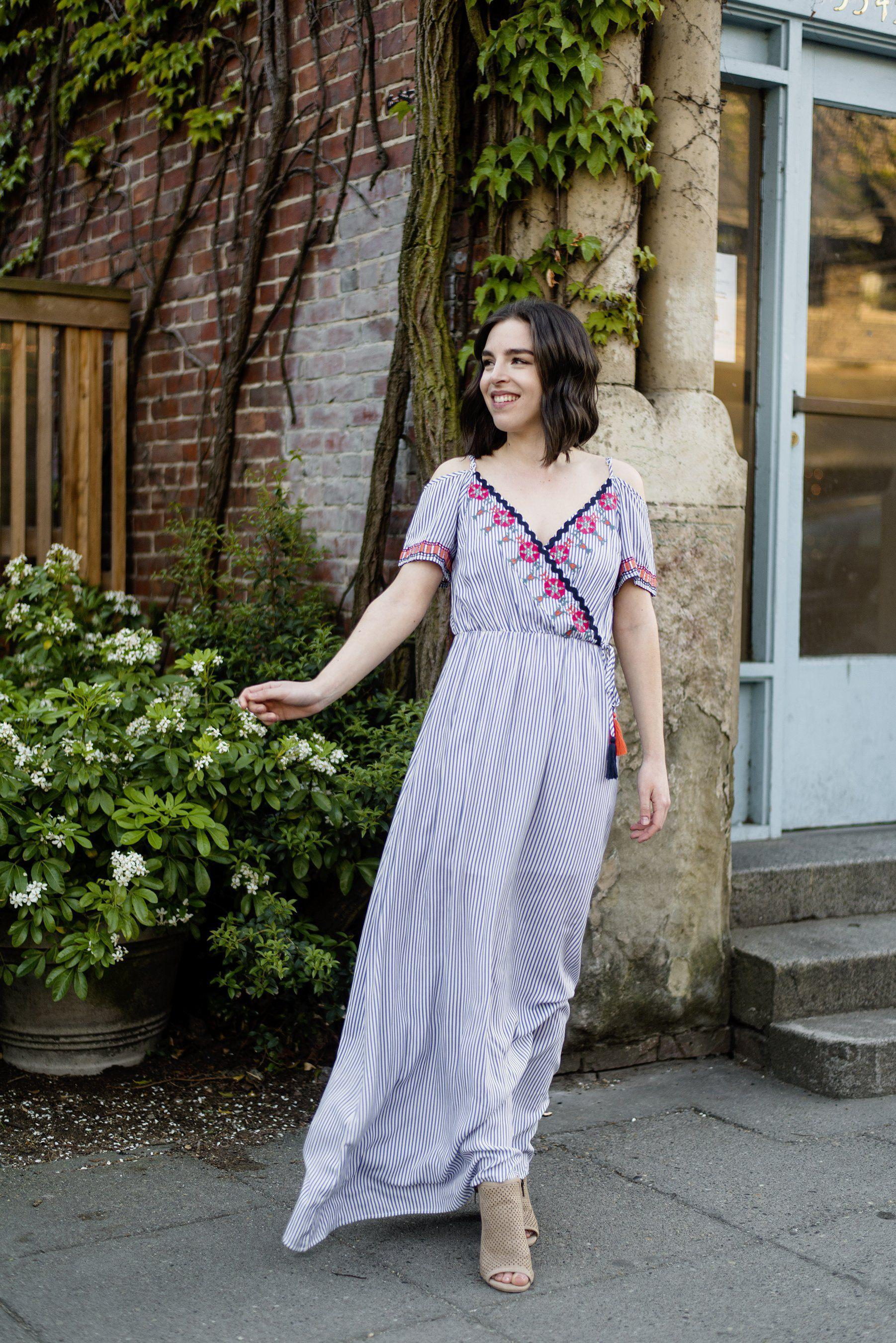 Get Her to the Greek Embroidered Maxi Dress
