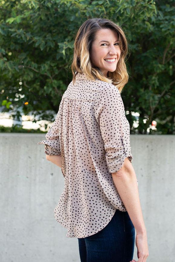 Spot of Gold Button Up Blouse