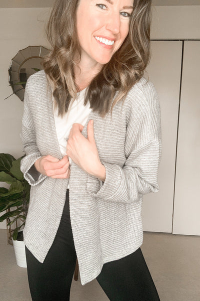 Wrapped Up Ribbed Cardigan Sweater