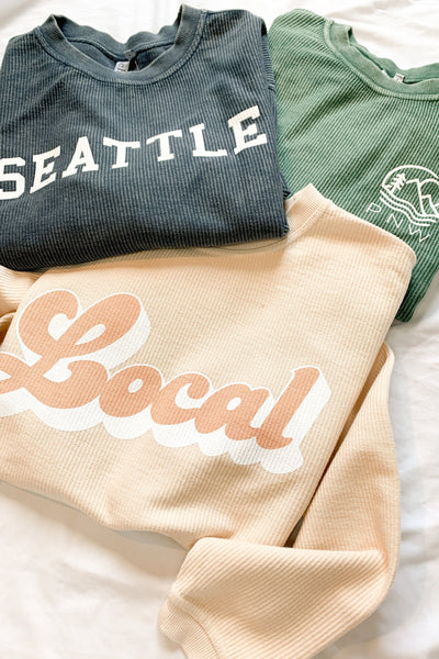 """Seattle"" Exclusive Corded Sweatshirt"