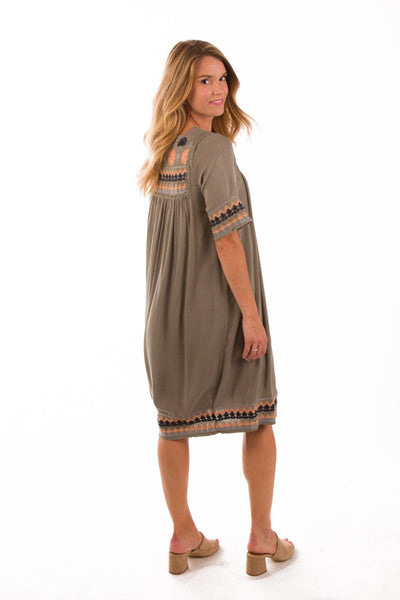Rock Out with Your Frock Out Embroidered Dress