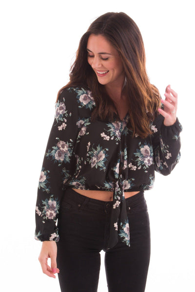 Crop It Like It's Hot Tie Waist Blouse