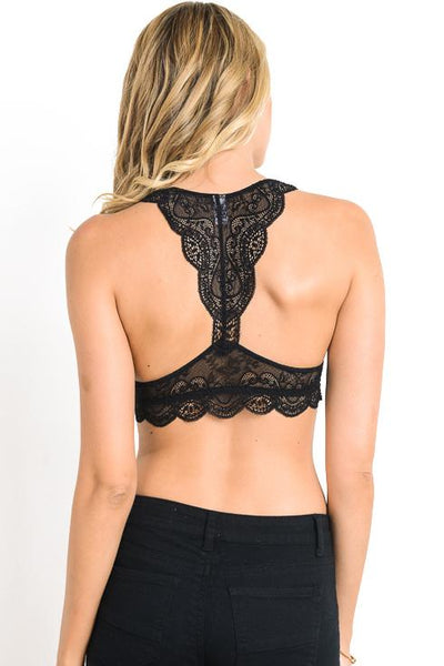 Lace of Spades Bralette in Black