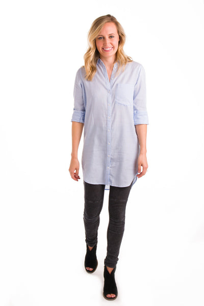 It Takes Tunics To Tango Button-Up