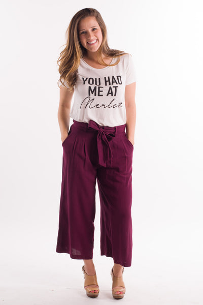 License to Chill Culottes in Burgundy || shoprollick.com